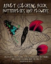 Adult Coloring Book Butterflies and Flowers