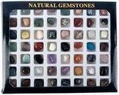 Geschenkdoos 56 diverse edelstenen - Edelsteen - 1-1.5