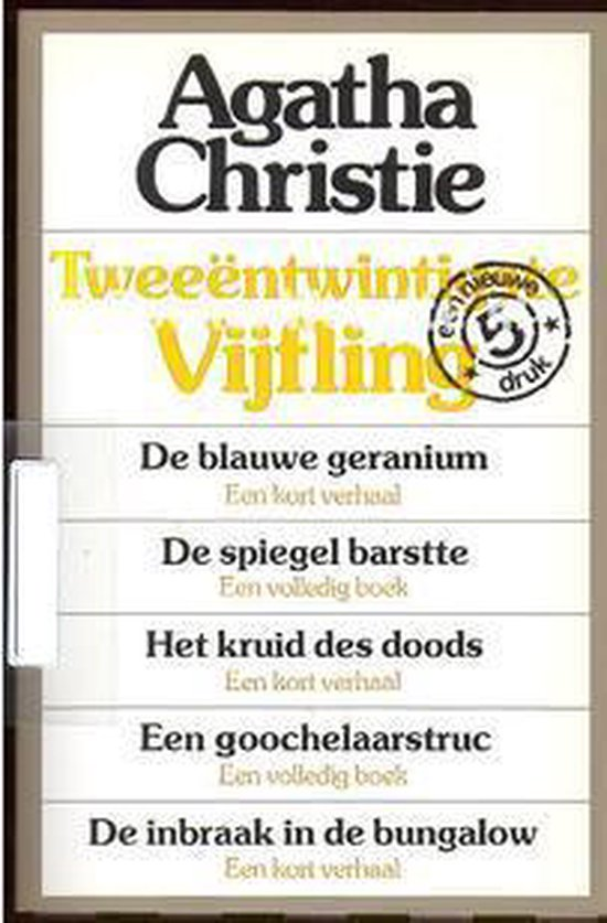 Twaalfde Agatha Christie vijfling - Agatha Christie pdf epub