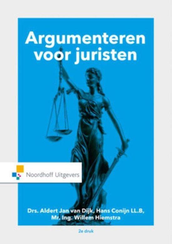 Argumenteren voor juristen - A.J. van Dijk  