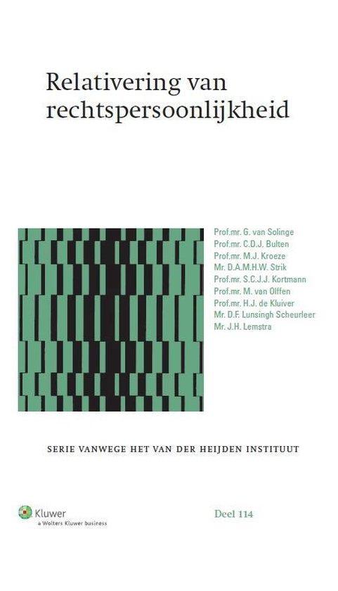 Relativering van rechtspersoonlijkheid - Wolters Kluwer Nederland B.V. |