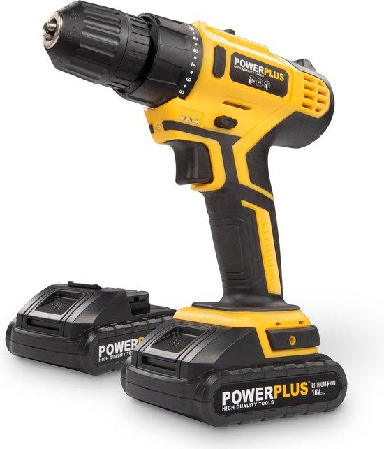 Powerplus POWX0069LI Accuboormachine - 18V Li-ion - incl. 2 accu's