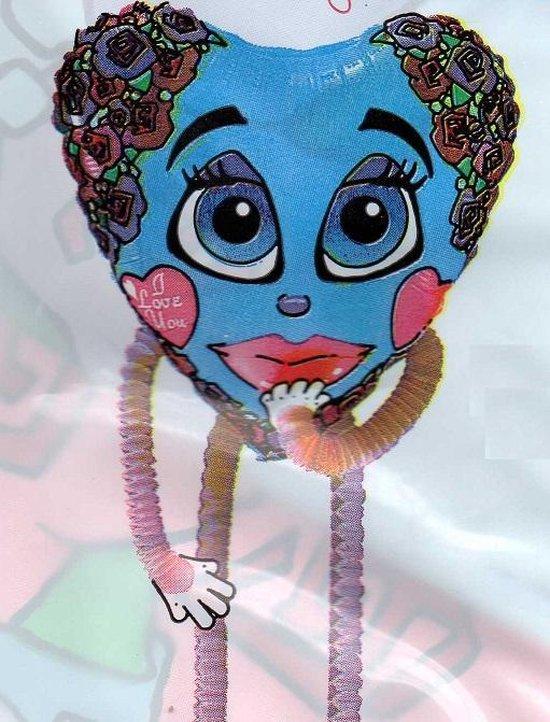 folieballon - high stepper - I love you - leeg