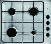 Brandt BPE6410X Ingebouwd Gas Zwart, Roestvrijstaal kookplaat