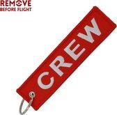 Crew - sleutelhanger - Keychain - Motor sleutelhanger - Remove before Flight - voor uw motor -  Scooter - Auto  - Handbagage