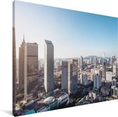 Skyline Guangzhou Canvas 40x30 cm - klein - Foto print op Canvas schilderij (Wanddecoratie woonkamer / slaapkamer) / Aziatische steden Canvas Schilderijen