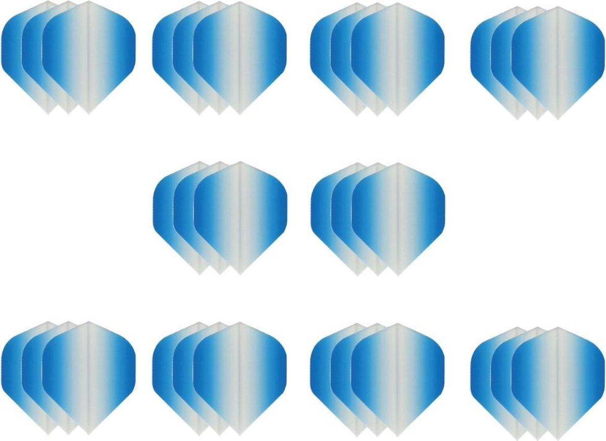 10 sets (30 stuks) Super Sterke dart flights- Dragon darts - Fade Side Blauw - darts flights