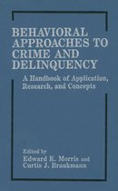Omslag Behavioral Approaches to Crime and Delinquency