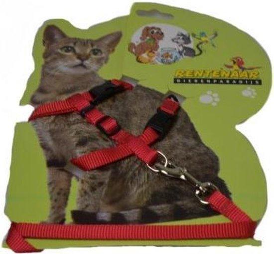 Kittentuigje Met Lijn Animal King - Dierentuigje - Rood