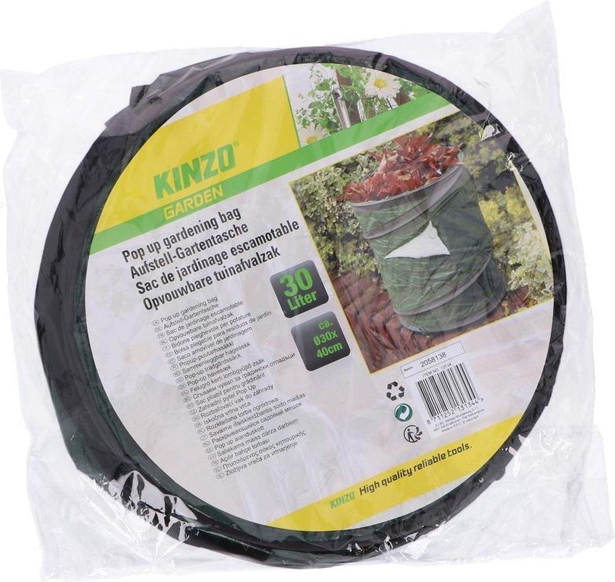 Pop-up tuinafval zak groen 30 liter - Tuinafvalzakken - Tuin schoonmaken/opruimen - Tuinonderhoud