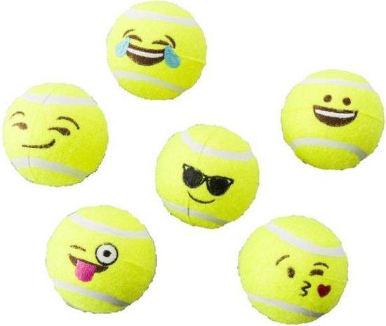 Hondenspeelgoed-Emoji tennisballen- 6 stuks-Animal King