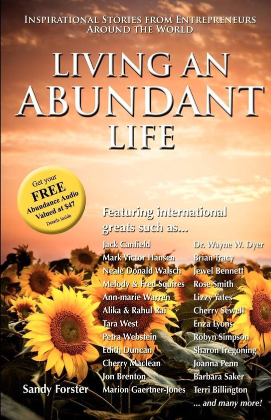 Boek cover Living an Abundant Life van Sandy Forster (Onbekend)