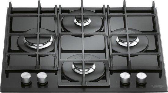 Hotpoint TQG 641 HA(BK) kookplaat Zwart Ingebouwd Gaskookplaat 4 zone(s)