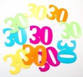 Mega confetti 30 jaar leeftijd versiering 12 stuks
