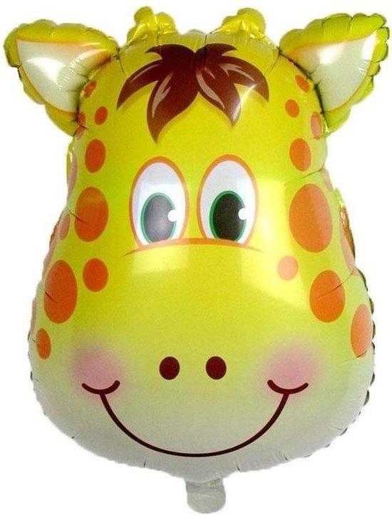 Dieren folieballon giraf 42 cm - Folieballonnen/heliumballonnen - Giraffen dierenthema folie ballonnen