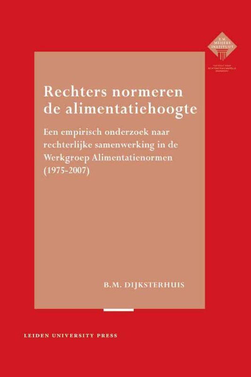 bol.com   Rechters normeren de alimentatiehoogte   9789087280451   Bregje Dijksterhuis   Boeken