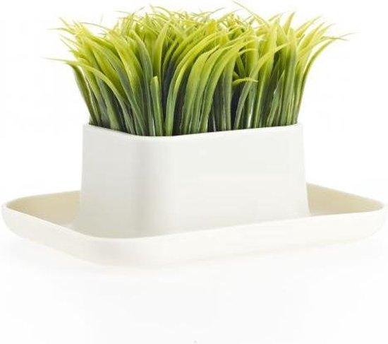 Gras pennenstandaard Wit/Groen Design. (Grass pen stand) - DHINK