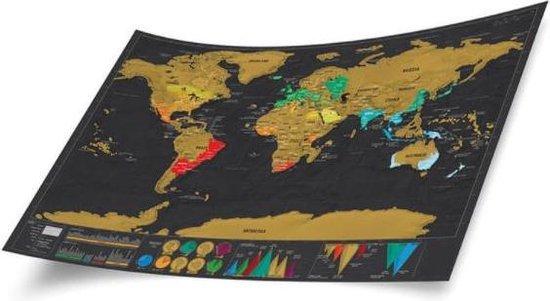 ScratchMap wereldkaart deluxe 60x83 (Scratch Map/kraskaart)