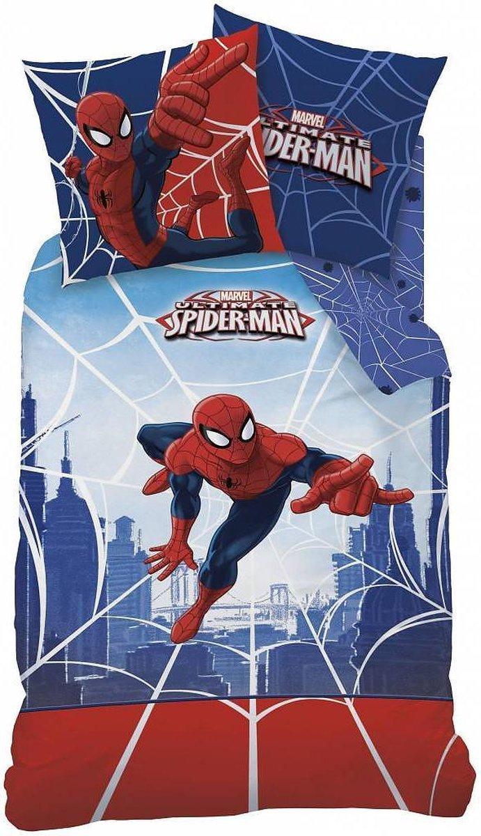 Spider-Man Web - Dekbedovertrek - Eenpersoons - 140 x 200 cm - Blauw - Spider-Man