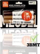 3BMT - Meubel reparatie stiften - set van 3 met verschillende kleuren - voor wegwerken beschadigingen
