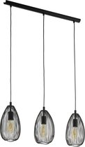 EGLO - hanglamp 3-lichts E27 Clevedon - zwart