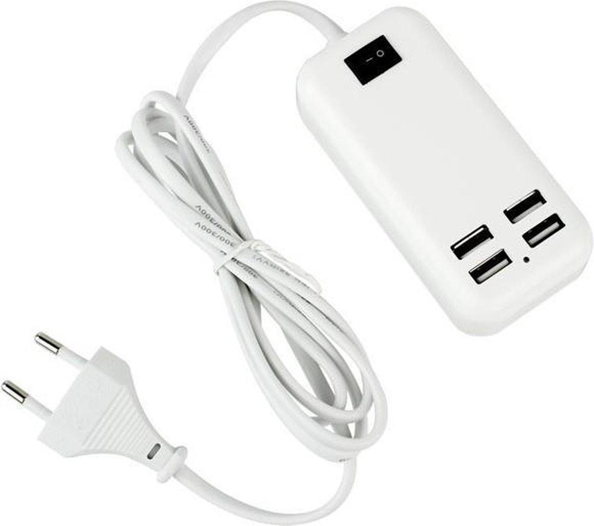 4 USB Poorten 15W universal Oplader / Adapter voor iPhone 6, 6 Plus, iPhone 5, 5S, 5C, 4, 4S