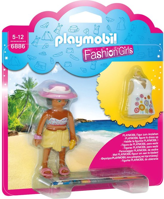 PLAYMOBIL Fashion Girl Strand - 6886 - Multicolor
