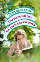 Boek cover Toetsterreur turntroubles en twittertweets van Gonneke Huizing