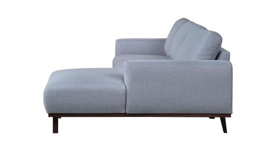 Hippe loungebank stof grijs - Valencia rechts - Meubelboer.nl - Merkloos