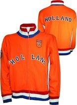 EK/WK Nederlands Elftal Oranje Voetbal Retro jack met Holland logo - maat S
