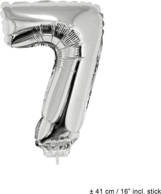 Folie opblaascijfer 7 Zilver
