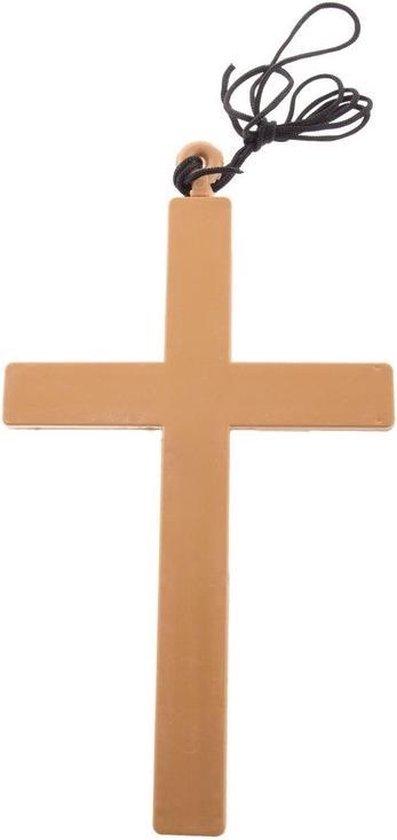 Ketting met groot kruis 23 cm