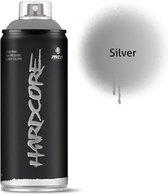 MTN Zilveren spuitverf - 400ml hoge druk en glans afwerking