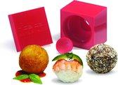 Rice Cube Rice Ball - Kunststof - Ø 4 cm - Rood