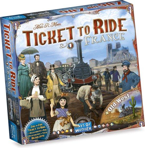 Afbeelding van Ticket to Ride France & Old West - Uitbreiding - Bordspel speelgoed