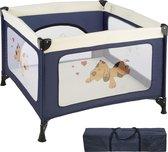 TecTake Tommy baby box - Opklapbaar Voor op Reis - blauw - 402205