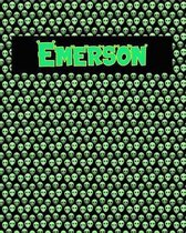 120 Page Handwriting Practice Book with Green Alien Cover Emerson