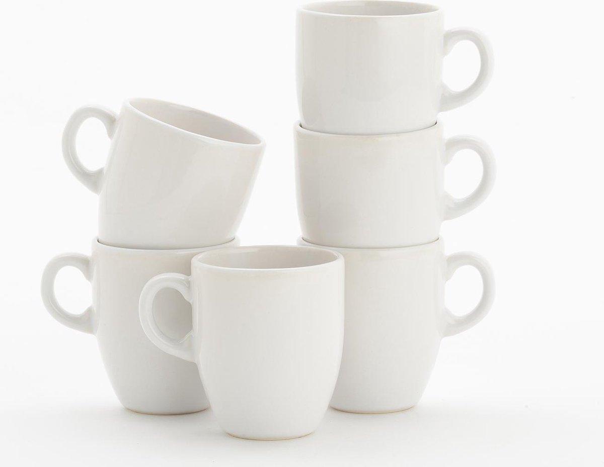 Lite-Body Hermes Koffie beker - 200 ml - Set van 6 - Wit