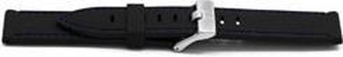 Horlogeband Universeel XH17 Rubber Zwart 22mm