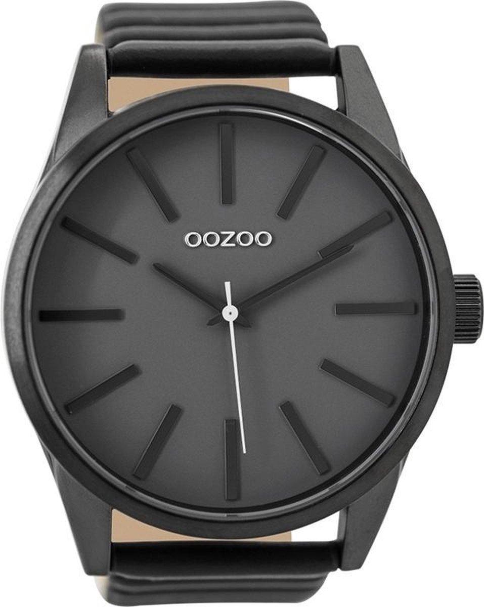 OOZOO Timepieces Zwart/Grijs horloge  (50 mm) - Zwart - OOZOO