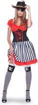 Piraat Jurk Vrouw - 2-delig- Verkleedkleding - Maat L/XL - Carnavalskleding