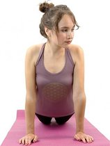Yoga top - Flower of life - Aubergine - Maat M