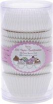 Papieren mini cupcake vormpjes - wit - set van 200 - St�dter