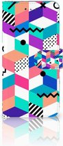 Smartphone Hoesje Nokia 6 Book Case Design Blocks Colorful