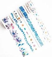 Set van 9 rollen Japanse Washi Tape Oceans   Masking Tape