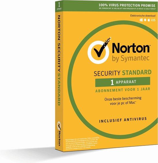 Norton Security Standard 3.0 - Nederlands / 1 Apparaat / 1 Jaar / Windows / Mac / iOS / Android