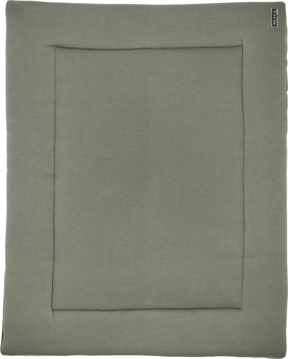 Meyco Knit basic boxkleed - 77x97 cm - forest green