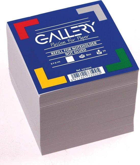 Gallery vulling memokubus formaat 9 x 9 cm 800 blaadjes