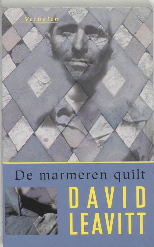 Cover van het boek 'De marmeren quilt' van David Leavitt