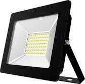 Buitenlamp zwart | LED 50W=500W halogeen schijnwerper | koelwit 4000K | waterdicht IP65